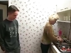 Aged Babysitter Gets Horny