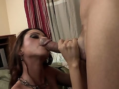 The busty milf Ariella Ferrera has come to visit her son and accidentally got to some other flat where met a well hung guy that worshipped her big boobs and fed with the hard stick