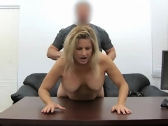 Blonde milf amateur fucked in her sexually excited fur pie