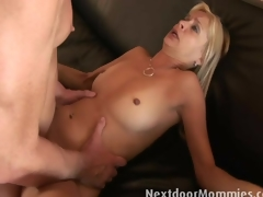 Payton Leigh is receives fucked on the couch