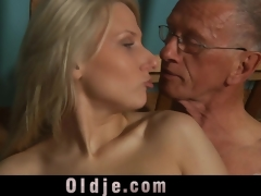 old dick is getting crazy in the slutty youthful bawdy cleft