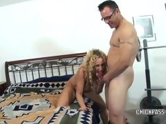 Lascivious MILF Samantha receives stuffed with a stiff cock
