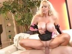 Milf Tia Gunn enjoys getting her wet slot slammed