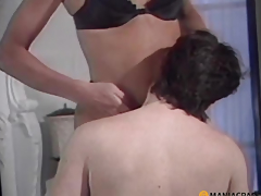 Woman gently sucks ramrod a peasant
