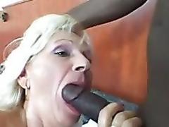 Granny gets juvenile black cock