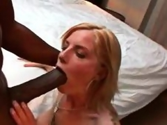 Giant black cock dude brings home a slutty wife
