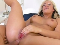 Grab the lotion, and pull up a seat for a spanktastic one-on-one with aged lady Vanessa Gold. This seasoned piece of a-hole gets fucked, and dick gets sucked. This Babe's a slut for anal, and can't live out of a gonzo and keeps Mick going till her blows his load all over her fine rear.